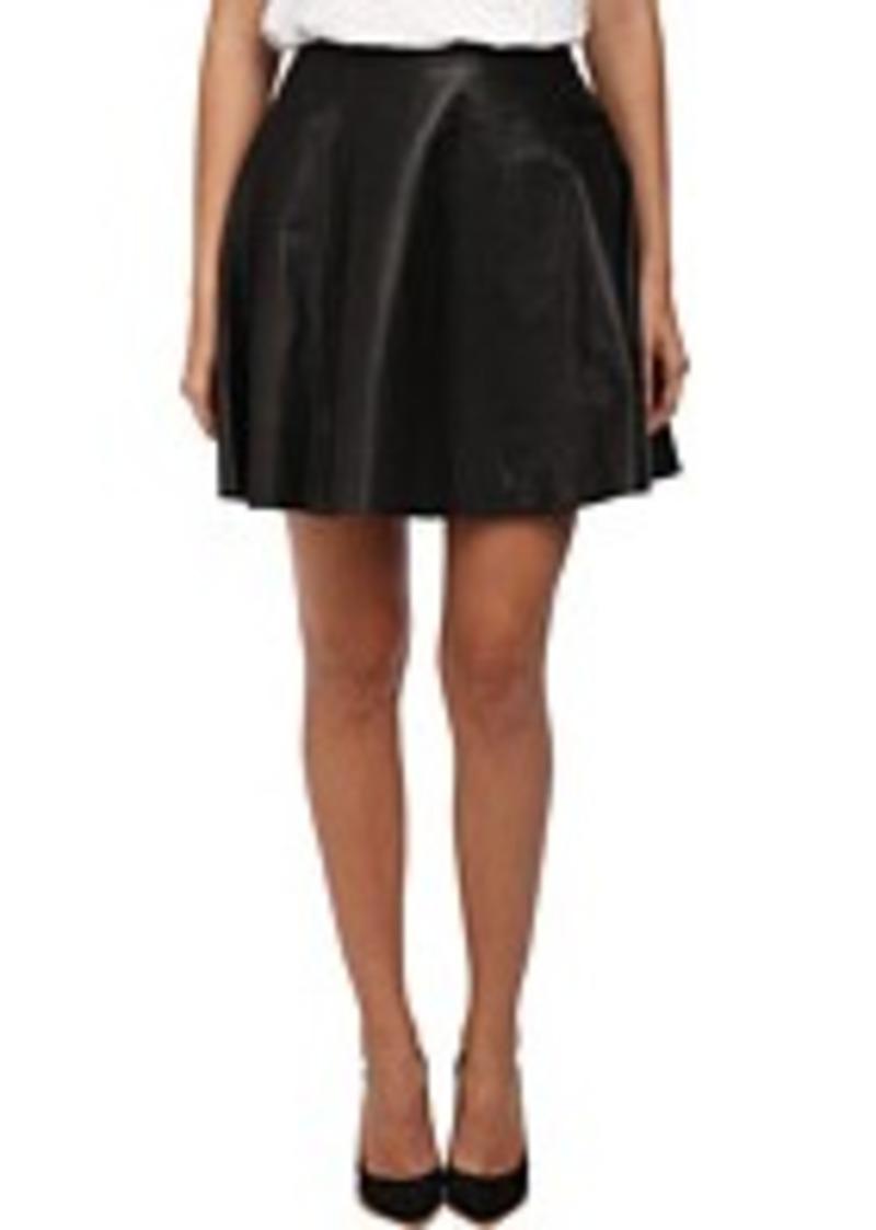 kate spade new york leather circle skirt