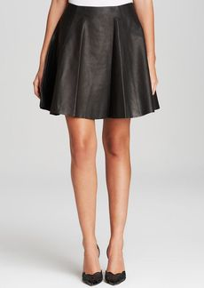kate spade new york Leather Mini Skirt