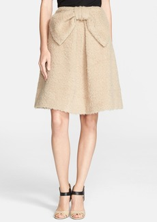 kate spade new york 'lee' bow detail a-line skirt
