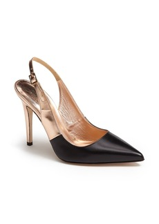 kate spade new york 'leigh' two-tone slingback pointy toe pump