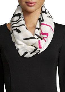 kate spade new york love print infinity scarf, cream