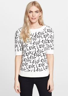 kate spade new york 'love' print pullover