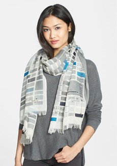 kate spade new york 'manhattan map' wool scarf