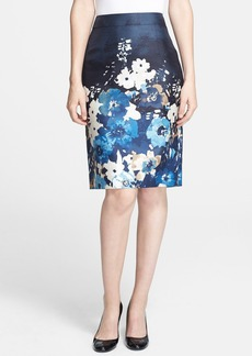kate spade new york 'marit' autumn floral print pencil skirt