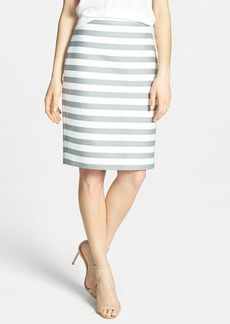 kate spade new york 'marit' stripe cotton blend pencil skirt