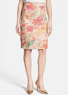 kate spade new york 'merit' metallic pencil skirt