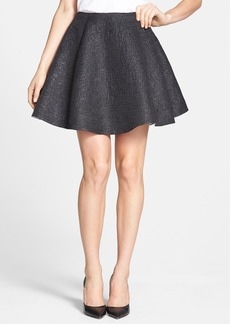 kate spade new york metallic flare skirt