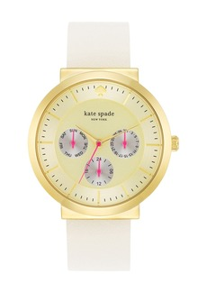 kate spade new york 'metro grand' multifunction reversible leather strap watch, 38mm