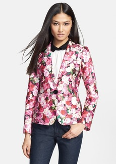 kate spade new york 'millie' rose print blazer
