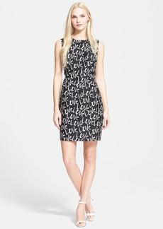 kate spade new york 'mindy - love' print sheath dress