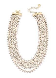 kate spade new york multi-strand crystal statement necklace