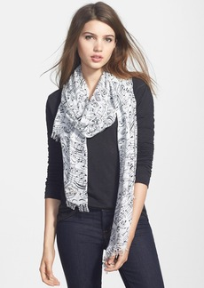 kate spade new york 'music notes' scarf
