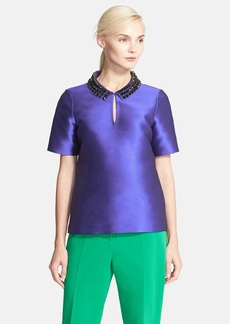 kate spade new york 'nelle' embellished collar top