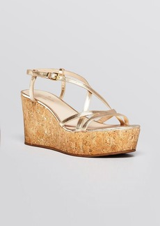 kate spade new york Open Toe Platform Wedge Sandals - Talanse