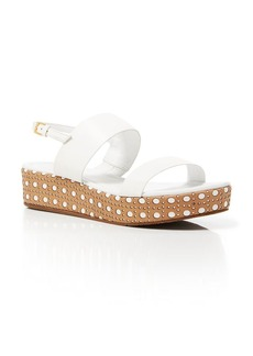 kate spade new york Open Toe Platform Wedge Sandals - Tasely