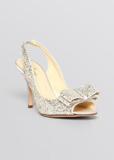 kate spade new york Open Toe Slingback Evening Pumps - Charm High Heel