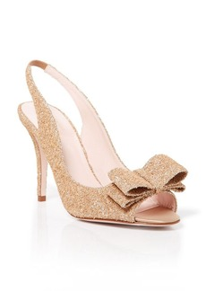 kate spade new york Open Toe Slingback Pumps - Celeste Cork High Heel