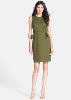 kate spade new york peplum stretch cotton sheath dress