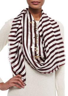kate spade new york planetary stripe large square scarf