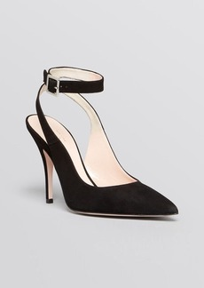 kate spade new york Pointed Toe Ankle Strap Pumps - Luminous High Heel