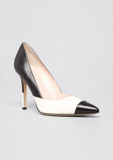 kate spade new york Pointed Toe Cap Toe Pumps - Lenticia High Heel