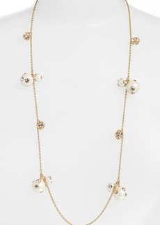 kate spade new york 'polka dot' long faux pearl station necklace
