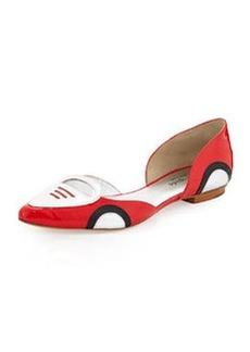 kate spade new york racer patent d'Orsay flat, maraschino red