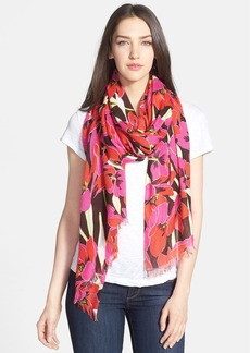 kate spade new york 'rio' tropical floral scarf