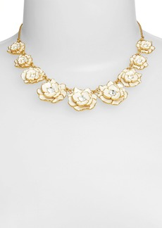 kate spade new york 'rose garden' enamel collar necklace