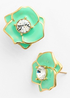 kate spade new york 'rose garden' enamel stud earrings