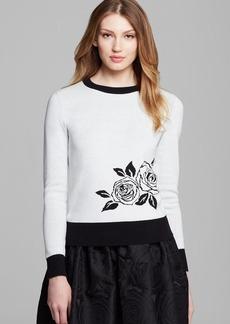 kate spade new york Rose Intarsia Sweater