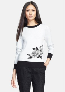 kate spade new york rose intarsia sweater