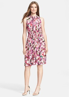 kate spade new york rose print woven a-line dress