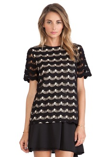 kate spade new york Scallop Lace Top