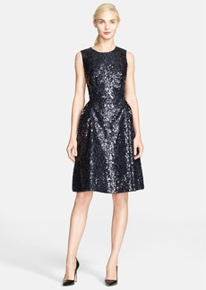 kate spade new york sequin fit & flare dress