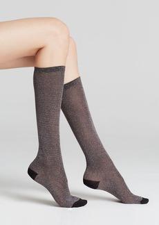 kate spade new york Shiny Lurex Knee-High Socks