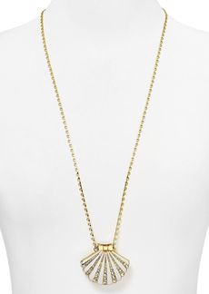 kate spade new york Shore Thing Clam Pendant Necklace, 32""