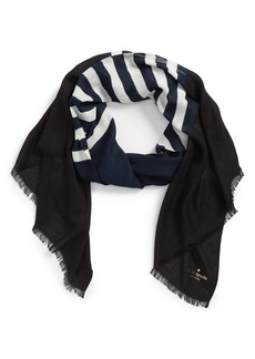 kate spade new york 'six month stripe' scarf