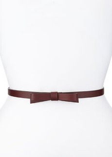 kate spade new york skinny leather bow belt, chianti