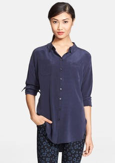 kate spade new york slouchy silk shirt