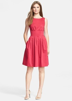 kate spade new york 'sonja' stretch cotton fit & flare dress