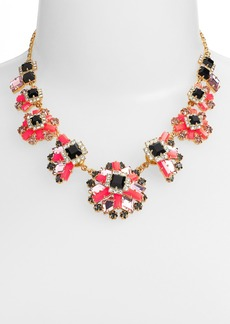 kate spade new york 'space age floral' frontal necklace