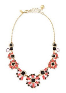 kate spade new york space age floral statement necklace
