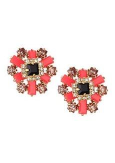 kate spade new york space age floral stud earrings