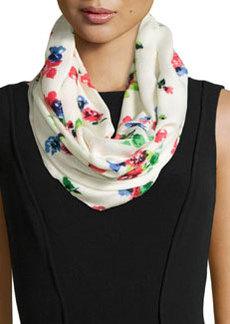 kate spade new york spring garden infinity scarf, cream