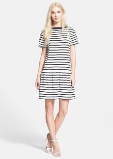 kate spade new york stripe jersey drop waist dress