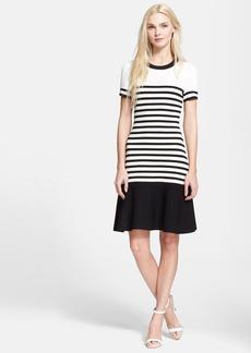 kate spade new york stripe scuba drop waist dress