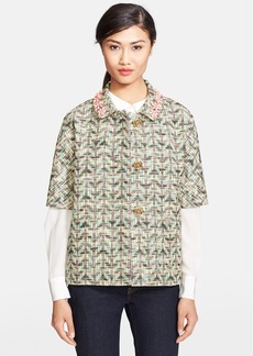 kate spade new york 'summer tweed' embellished jacket