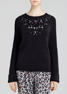 kate spade new york Tokyo Grid Ribbed Sweater