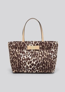 kate spade new york Tote - Veranda Place Small Leopard Print Nylon Evie